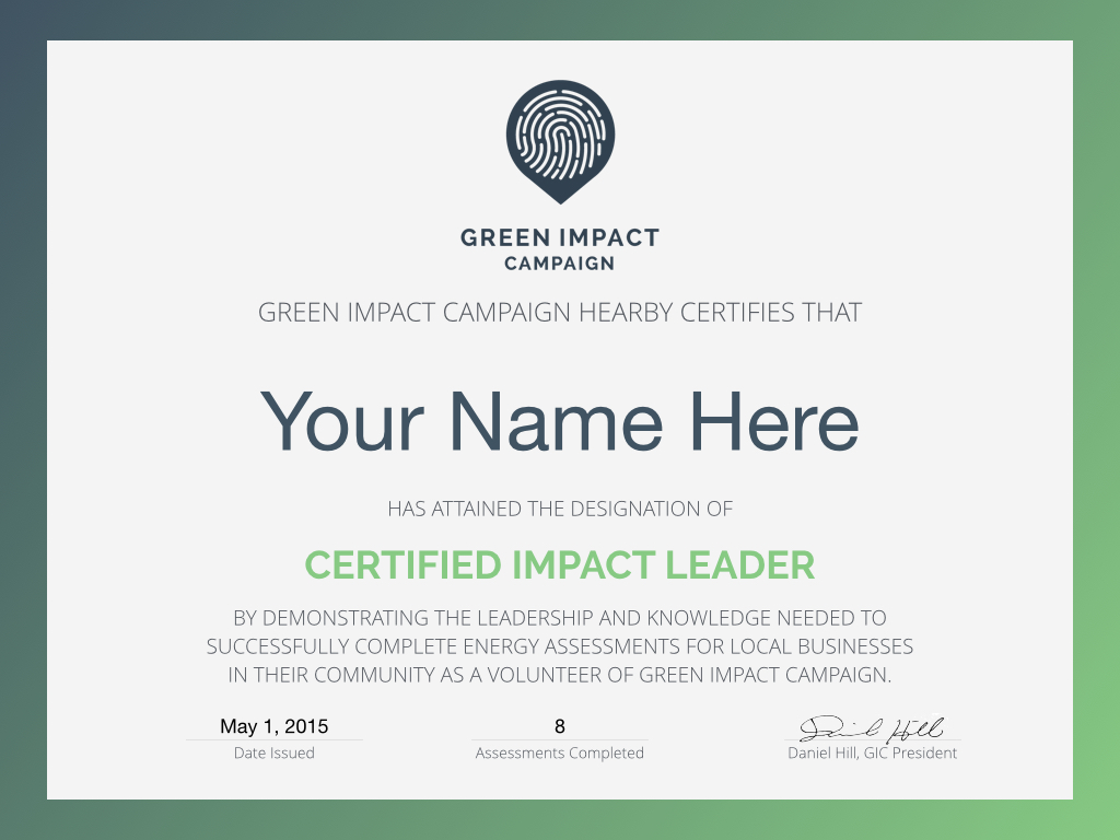 Students volunteers green impact campaign get certified and show off pronofoot35fo Images