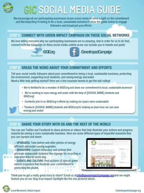 green impact social media guide small business