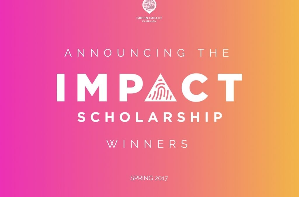 Announcing the Spring 2017 Impact Scholarship Winner